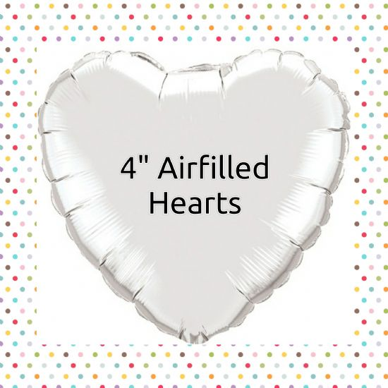 "Qualatex 4"" Airfillled Solid Colour Hearts"
